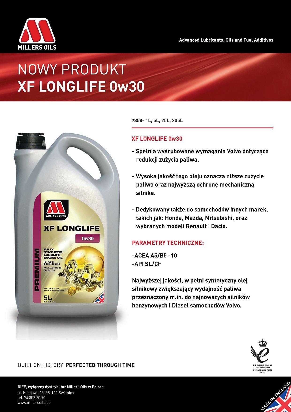 XF-Longlife-0w30-Racing Oils Warszawa